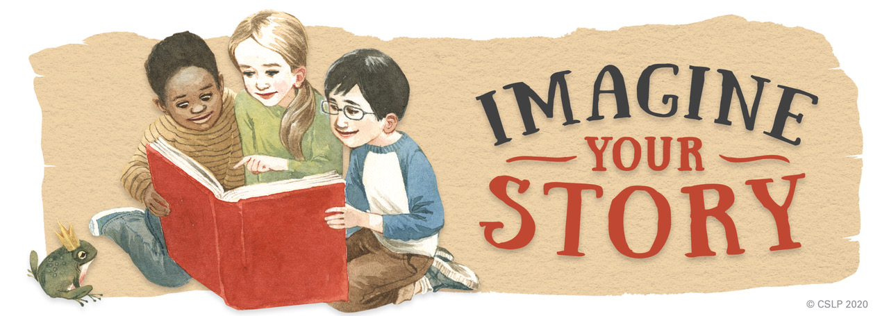 Imagine Your Story Three Children with Big Red Book