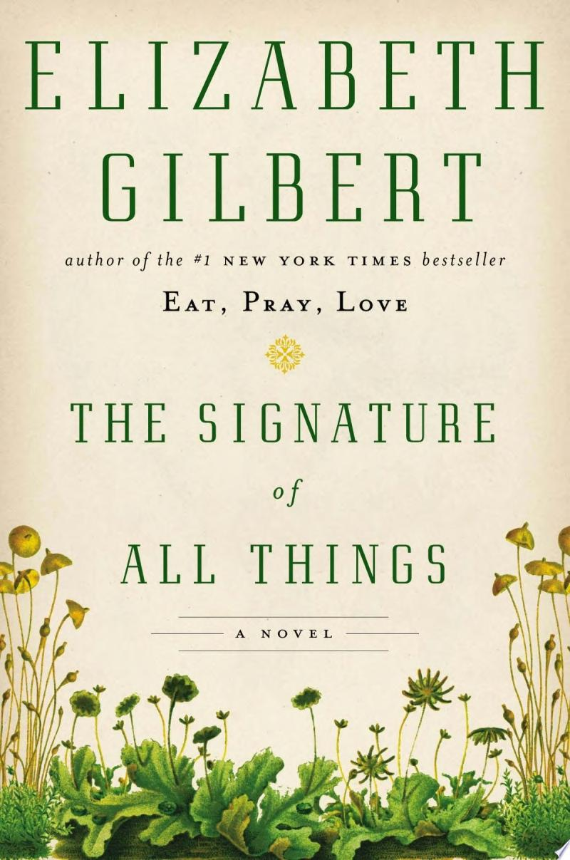 "Image for ""The Signature of All Things"""