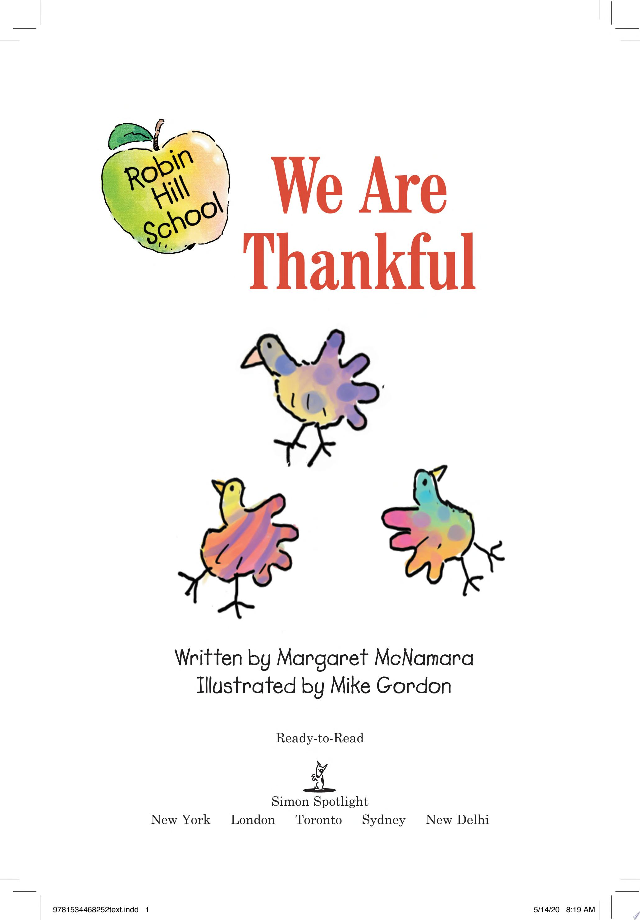 "Image for ""We Are Thankful"""