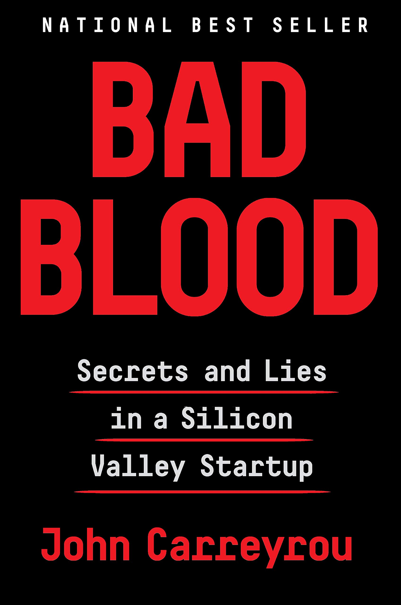 "Cover of ""Bad Blood"" by John Carreyrou"