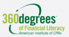 360 Degrees of financial literacy American Institute of CPAs logo