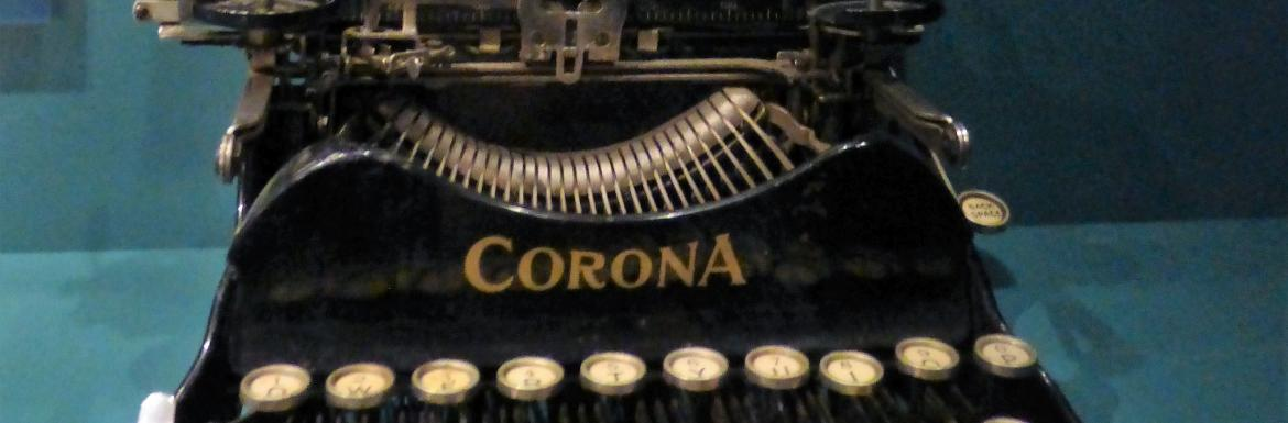 A photo of a Corona brand typewriter